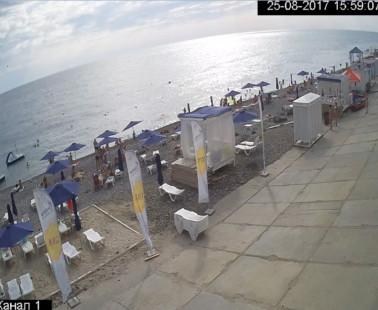 Адлер. Веб камера онлайн пляж