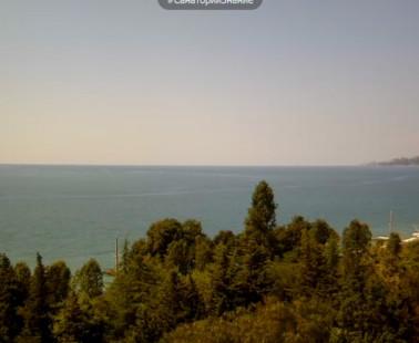 Адлер. Веб камера онлайн вид на море с санатория «Знание»