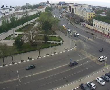 Астрахань. Веб камера онлайн Астраханский Кремль и Сквер Ульяновых