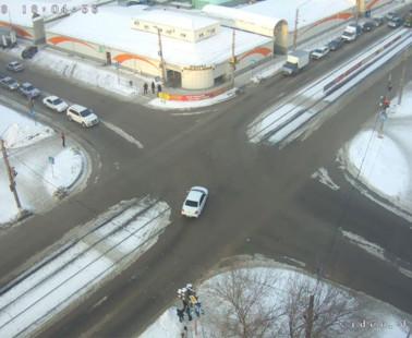 Бийск. Веб камера онлайн остановка Вокзал