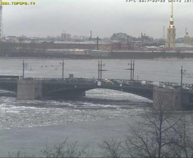 Санкт-Петербург. Веб камера онлайн Дворцовый мост