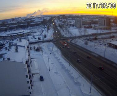 Братск. Веб камера онлайн перекресток Гагарина — Комсомольская