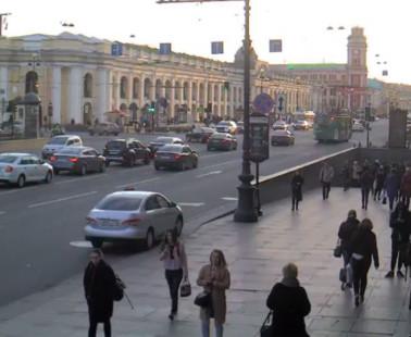 Санкт-Петербург. Веб камера онлайн Гостиный Двор