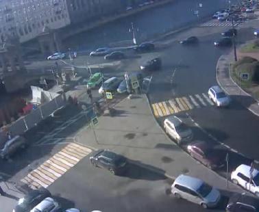 Санкт-Петербург. Веб камера онлайн набережная реки Фонтанки и мост Ломоносова