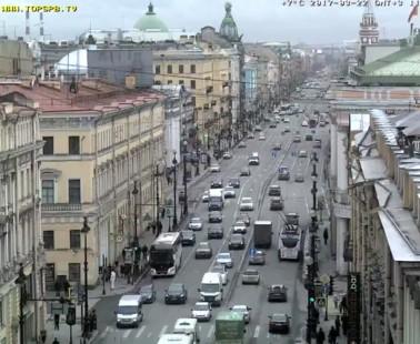 Санкт-Петербург. Веб камера онлайн Невский проспект