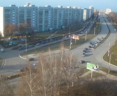 Новочебоксарск перекресток ул. Советская и ул. Парковая