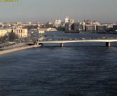 Санкт-Петербург. Веб камера онлайн Пироговская набережная