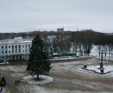 Великие Луки. Веб камера онлайн площадь Ленина