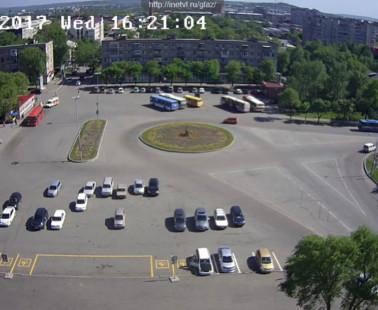 Уссурийск. Веб камера онлайн привокзальная площадь