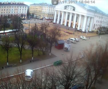 Калуга. Веб камера онлайн Театральная площадь