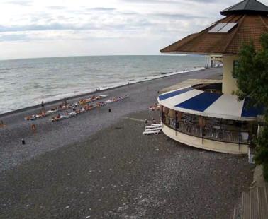 Сочи. Веб камера онлайн пляж СПА-Отель «Дивный»
