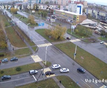 Волгодонск. Веб камера онлайн перекресток пр. Курчатова и ул. Гагарина