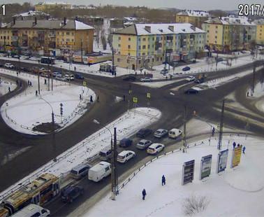 Братск. Веб камера онлайн перекресток Южная — Мира