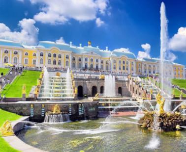 Петергоф. Веб камера онлайн фонтан «Самсон»