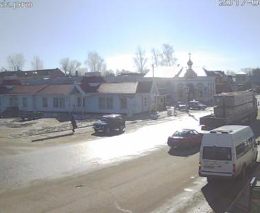 Бежецк. Веб камера онлайн начало Кашинской улицы