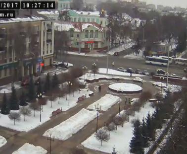 Белгород. Веб камера онлайн остановка «Родина»