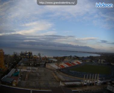 Анапа, Веб камера онлайн панорамный вид на море с отеля Валентина