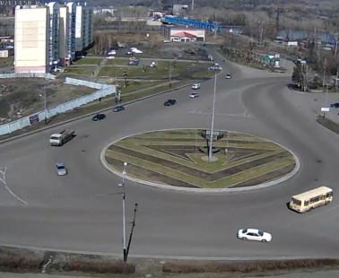 Междуреченск. Веб камера онлайн перекресток «Автостанция»