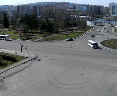 Междуреченск. Веб камера онлайн перекресток «Буревестник»