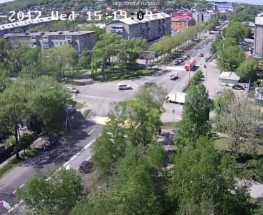 Уссурийск. Веб камера онлайн перекресток Некрасова — Комарова