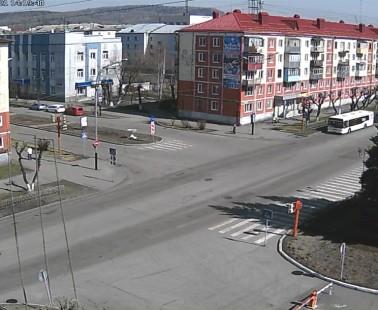 Междуреченск. Веб камера онлайн перекресток Строителей-Чехова