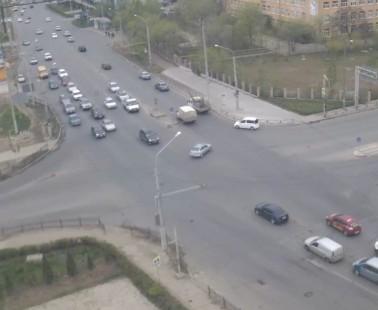 Астрахань. Веб камера онлайн перекресток улиц Николая Островского и Магнитогорская