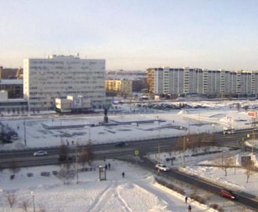 Братск. Веб камера онлайн площадь Ленина