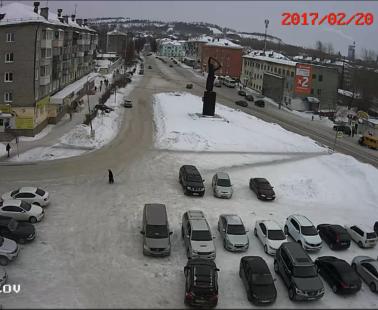 Кушва. Веб камера онлайн площадь Советов