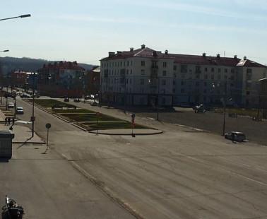 Междуреченск. Веб камера онлайн площадь «Весенняя» №2