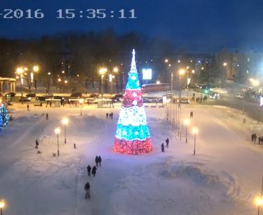 Архангельск. Веб камера онлайн площадь у мэрии