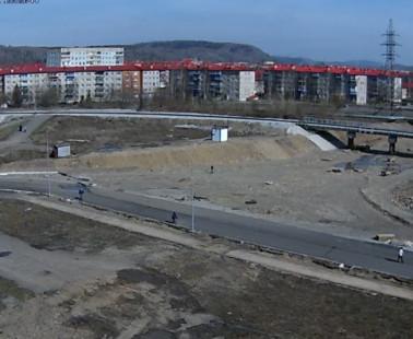 Междуреченск. Веб камера онлайн проезд Кузнецкая-Вокзальная