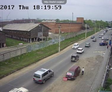 Уссурийск. Веб камера онлайн вид в сторону пр. Блюхера