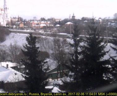 Брянск. Веб камера онлайн проспект Ленина