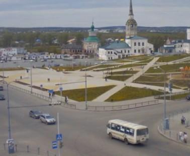 Соликамск. Веб камера онлайн Соборная площадь