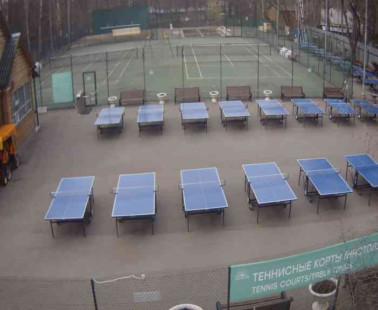 Парк «Сокольники». Веб камера онлайн теннисные корты