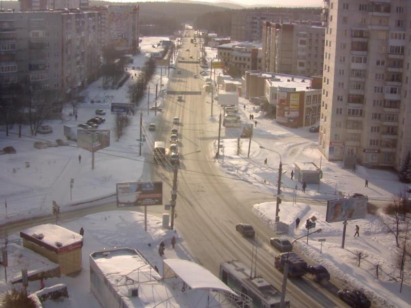Миасс. Веб камера онлайн перекресток ул. Жуковского и пр. Октября