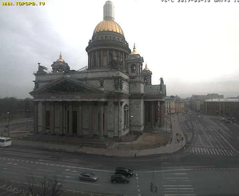 Санкт-Петербург. Веб камера онлайн Исаакиевская площадь