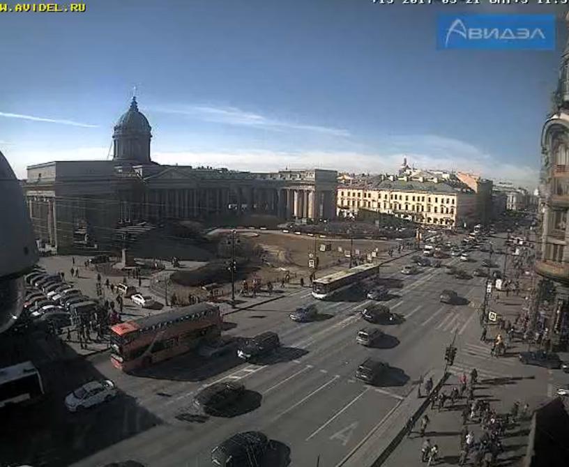 Санкт-Петербург. Веб камера онлайн Казанский собор