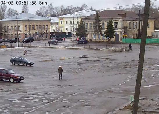 Бежецк. Веб камера онлайн Советская площадь
