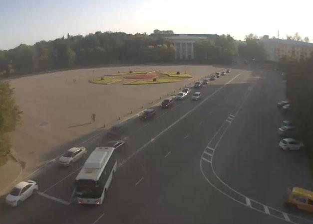 Великий Новгород. Веб камера онлайн площадь Победы (Софийская)