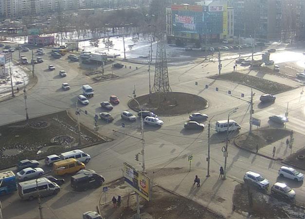 Астрахань. Веб камера онлайн Вокзальная площадь