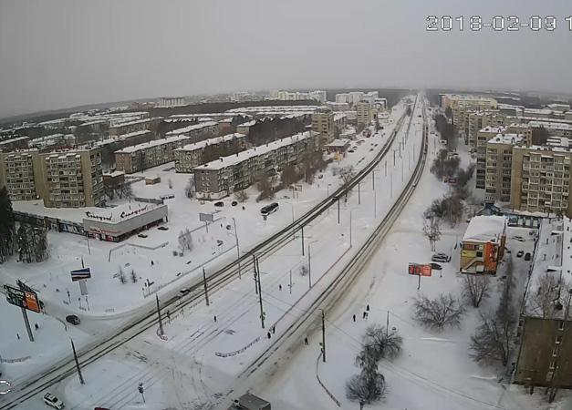 Ангарск. Веб камера онлайн Ленинградский проспект камера №1